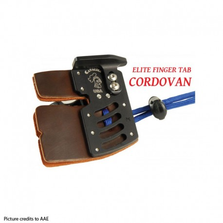 AAE Elite Finger Tab with Cordovan Face