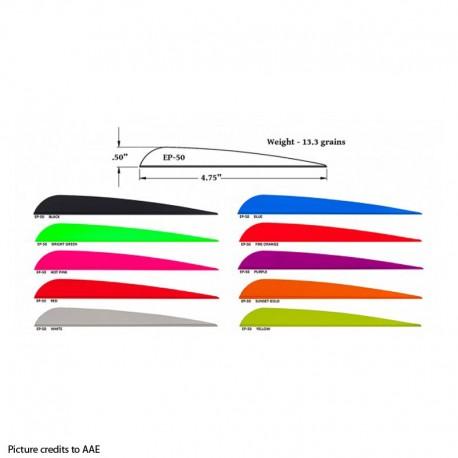 AAE Elite PlastiFletch EP 50 (100pcs)